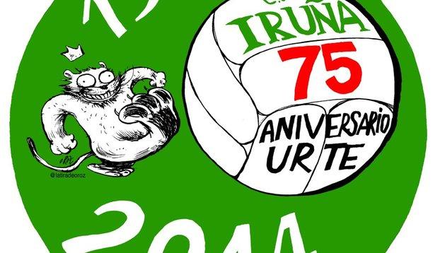 El Iruña presenta sus actos conmemorativos del 75 aniversario