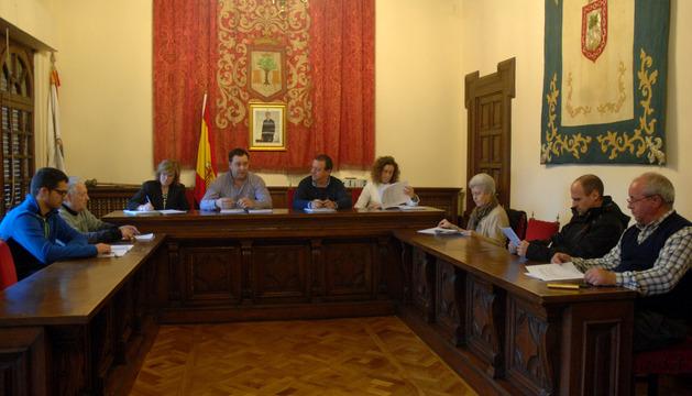 Un momento del pleno celebrado este jueves en el Ayuntamiento de Olite