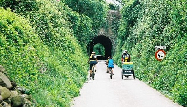 Imagen de la vía verde del Bidasoa.