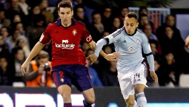 Marc Bertrán y Orella, en el partido en Vigo