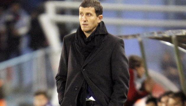 Javi Gracia, en el partido ante el Celta