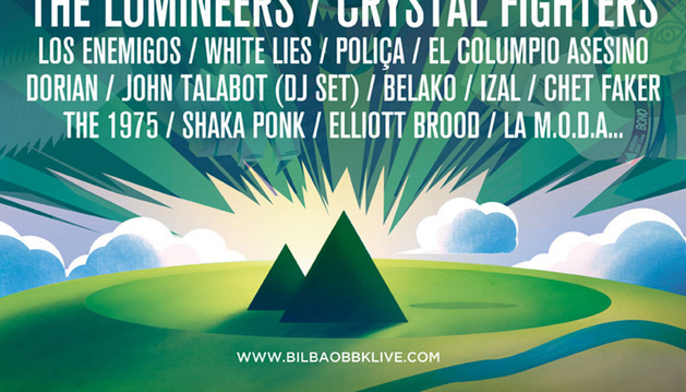 Cartel del festival Bilbao BBK Live 2014