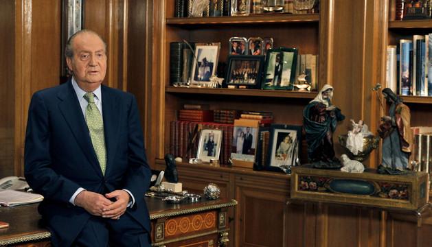 El rey Juan Carlos en el discurso de 2012 en la Zarzuela