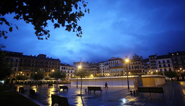 Plaza del Castillo en Pamplona.