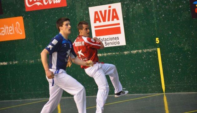 Jaunarena y Bengoetxea, en un partido anterior