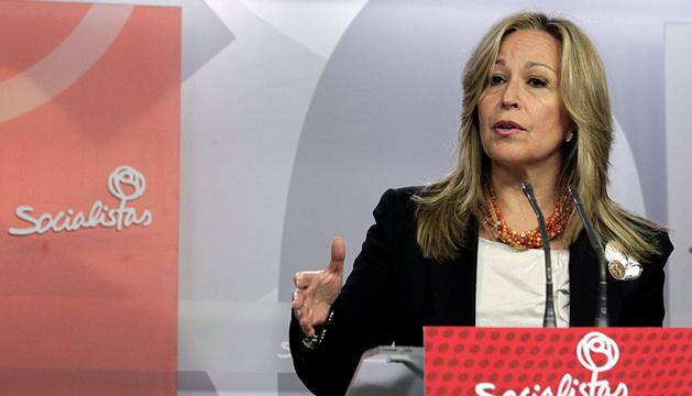 Trinidad Jiménez, secretaria de Política Social del PSOE.