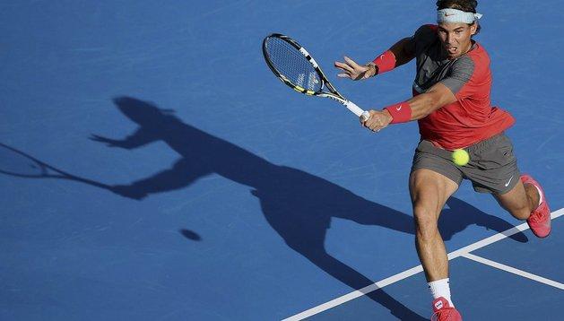 Rafael Nadal, en el torneo de Abu Dhabi