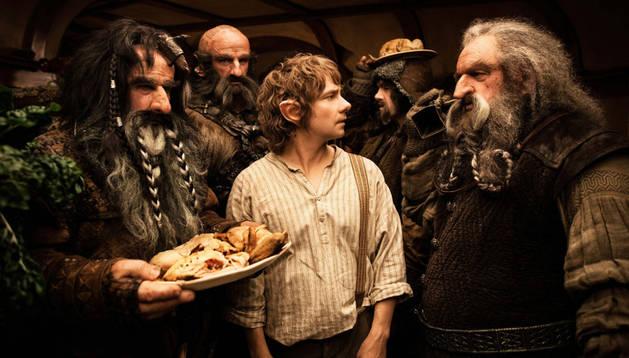 Fotograma de la película 'El Hobbit', protagonizada por Martin Freeman