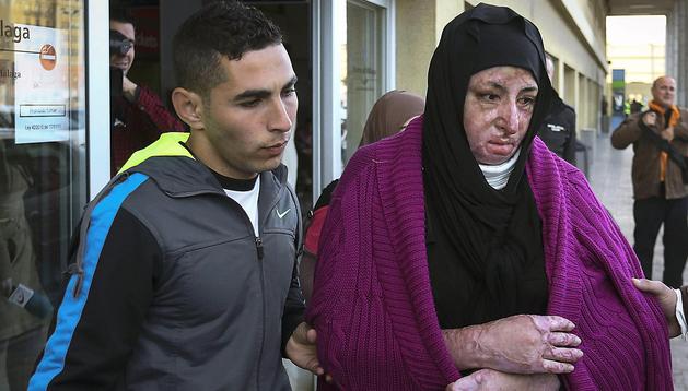 La inmigrante siria Manar Almustafa, a su llegada a Málaga