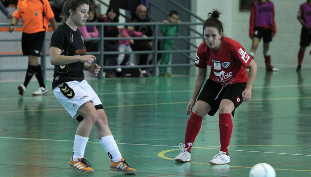 Las jugadores del Lacturale Orvina, ante Ponte Ourense
