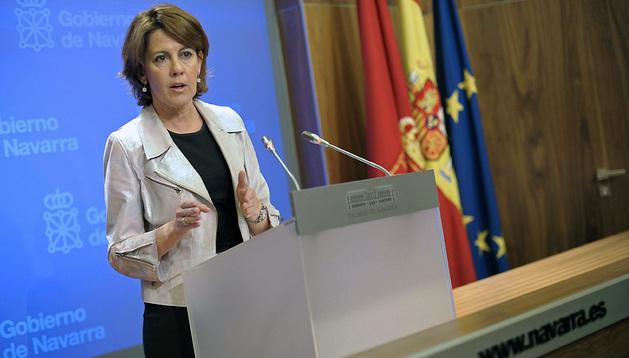 Yolanda Barcina en la última sesión de gobierno del año
