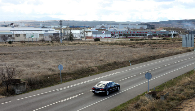 Vista general del polígono de Cintruénigo, junto a la N-113, donde se instalará la nueva empresa.