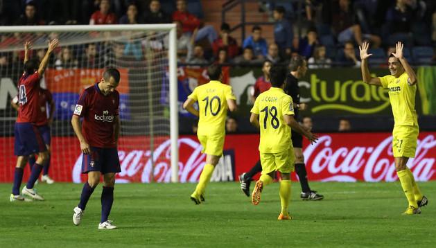 Puñal, durante el partido de ida ante el Villarreal