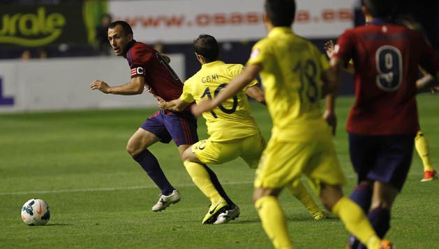 Puñal, en el partido de ida ante el Villarreal