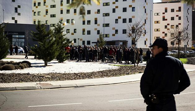 Concentración frente al Centro unificado de Seguridad