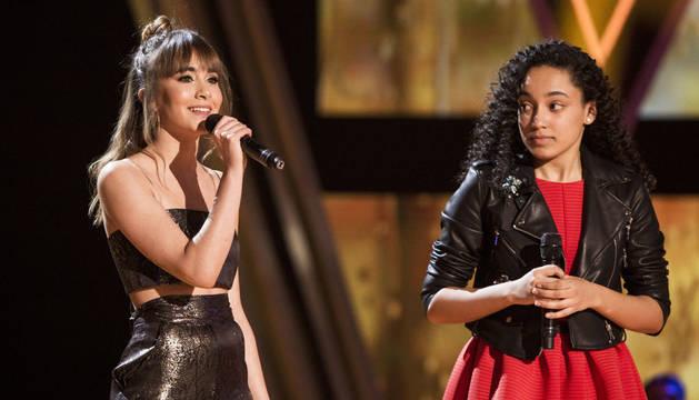 La artista Aitana interpretará  esta noche en  la Voz Kids su éxito 'Vas a quedarte' al lado de Aysha Bengoetxea.