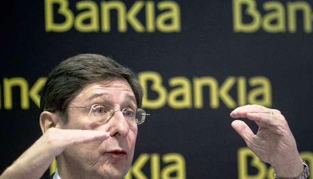 El presidente de Bankia, José Ignacio Goirigolzarri, durante su intervención en la presentación de resultados del grupo