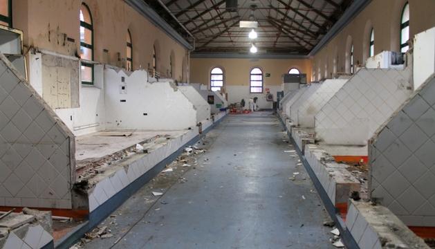 Obras para crear el café teatro del mercado de Santo Domingo.