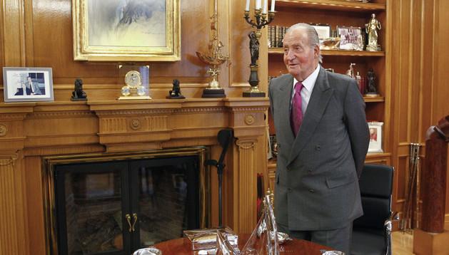 El Rey Juan Carlos, este lunes en el Palacio de La Zarzuela