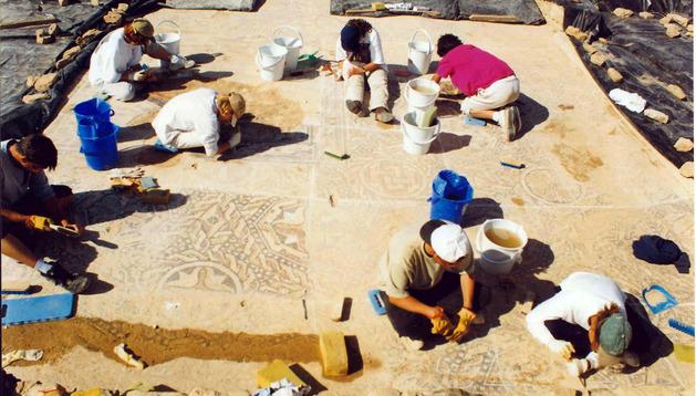 Una excavación en Arellano en 1998