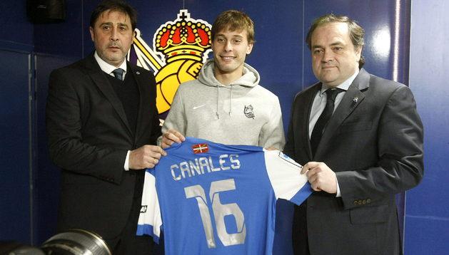 Sergio Canales, en su presentación con la Real Sociedad