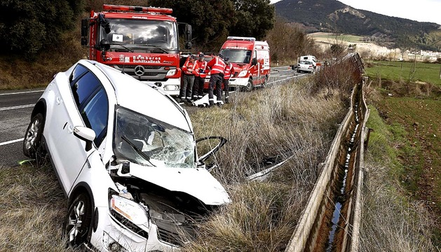 Accidente mortal en Zubielqui (Allín)