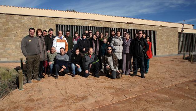 Participantes en las IV Jornadas Técnicas que concluyeron el martes en el centro de información de Aguilares de Bardenas
