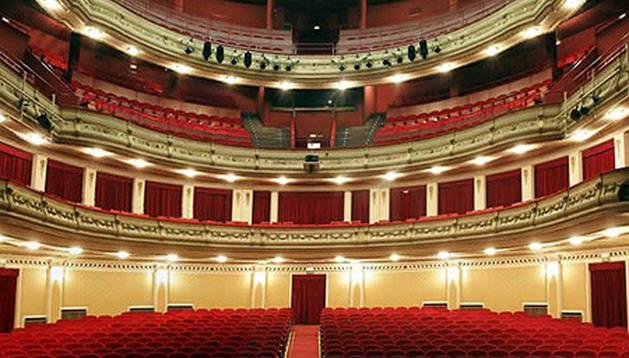 El Teatro Gayarre de Pamplona.