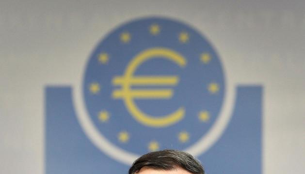 Mario Draghi, durante la rueda de prensa tras el Consejo de Gobierno del BCE