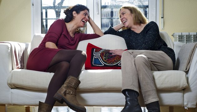 La actriz Susi Sánchez (d), nominada a mejor actriz de reparto en los Goya 2014, con su sobrina, la también actriz Ruth Gabriel