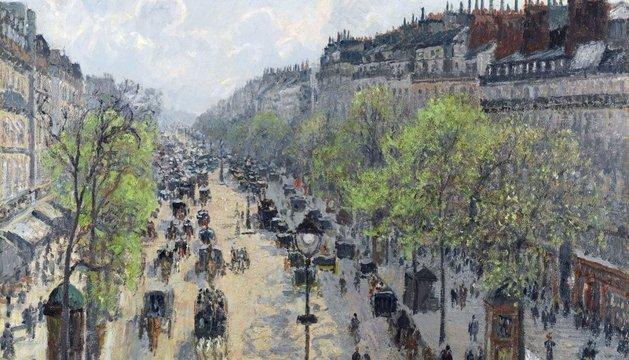 El paisaje parisino 'Le Boulevard Montmartre, matinée de printemps', de Pissarro