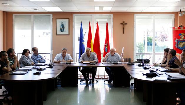 Salón de plenos del Ayuntamiento de Beriáin en el transcurso de una de las sesiones
