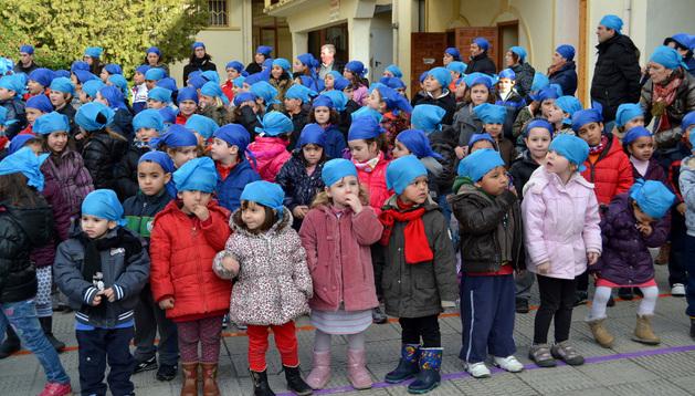 Niños del colegio público el pasado 30 de enero, Día de la Paz