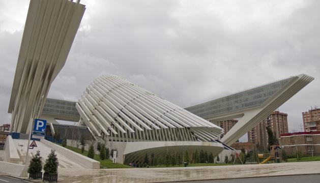 Vista del Palacio de Congresos de Oviedo.