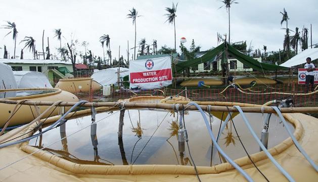 Imagen de la labor de Cruz Roja en el lugar del desastre