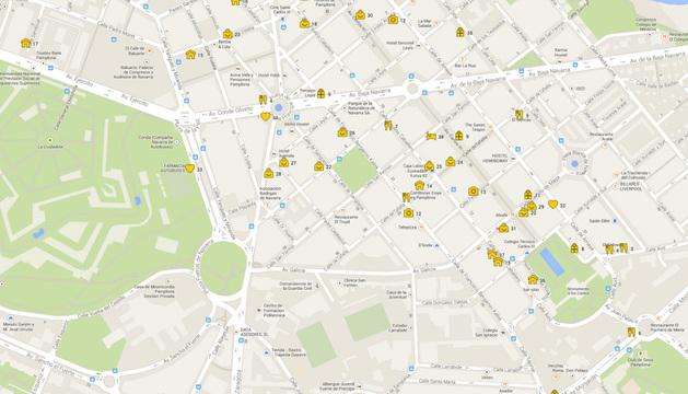 Mapa con los comercios adheridos a la iniciativa