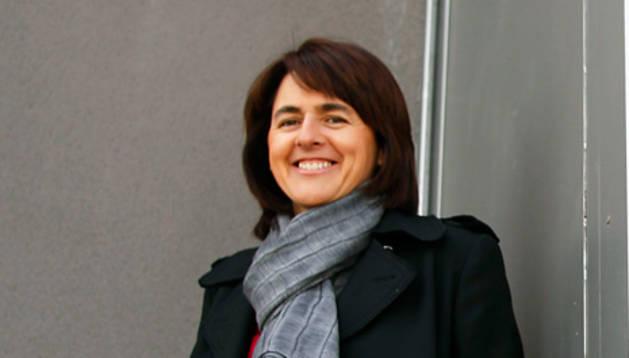 La consejera Marta Vera, en el pabellón de dirección del Complejo Hospitalario de Navarra
