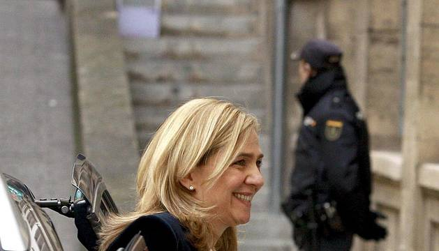 La infanta doña Cristina acudió a declarar como imputada en el