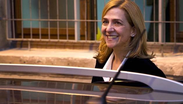 La infanta Cristina sale del juzgado de Palma tras ser interrogada por el juez Castro