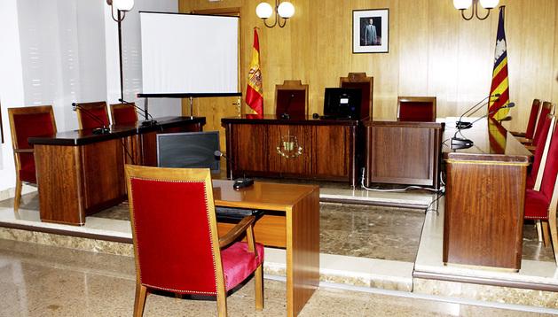 Vista de la sala del juzgado