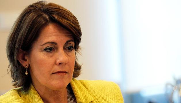 Yolanda Barcina, presidenta de UPN y del Gobierno foral