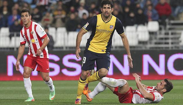 Diego Costa en un momento del encuentro