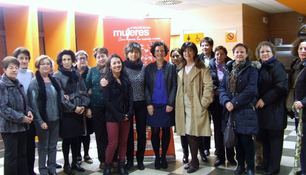 Asistentes a la inauguración de 'El valor de las mujeres. Cine para la acción'