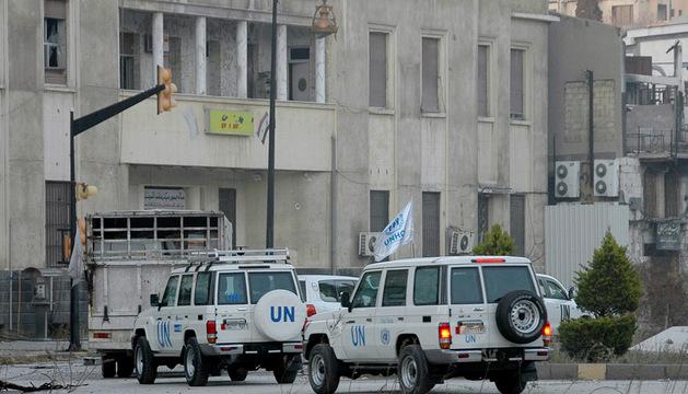 Un convoy de la ONU entra este sábado en Homs.
