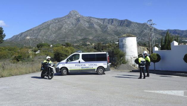 Lugar donde un ciudadano francoargelino ha muerto este lunes al ser disparado cuando llevaba a sus hijos al colegio en Marbella