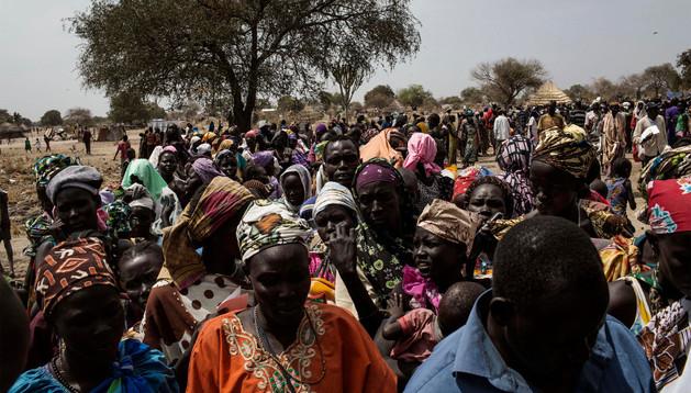 Personas desplazadas en Sudán del Sur