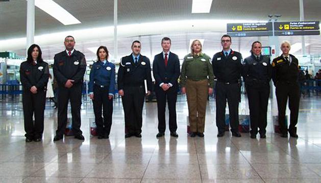 Los empleados de seguridad reconocidos por Aena