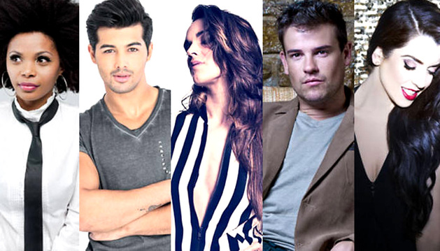 Imagen de los cinco candidatos a representar a España en el concurso Eurovisión.