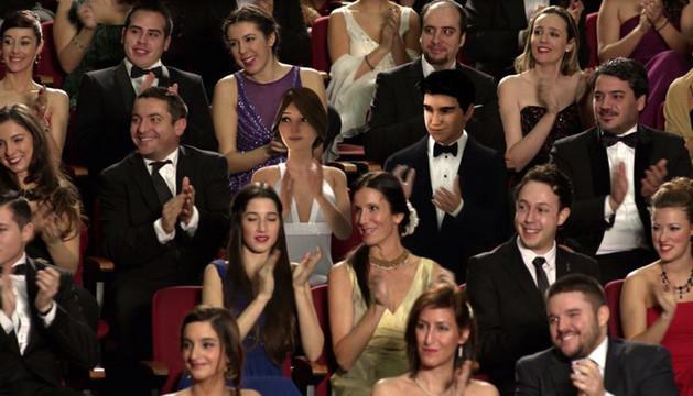 Linda y Óscar entre el público de la pasada gala de los Premios Goya