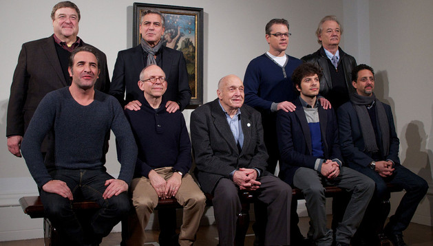 El elenco de 'Monuments Men